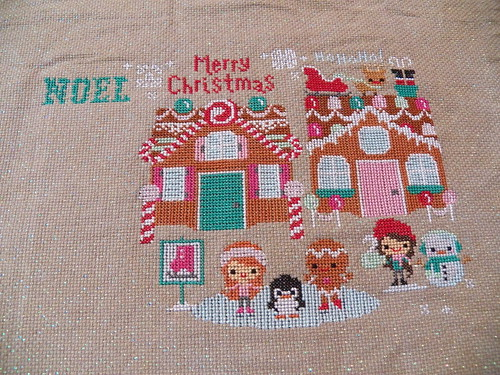 Gingerbread Lanes cross stitch. The Frosted Pumpkin pattern