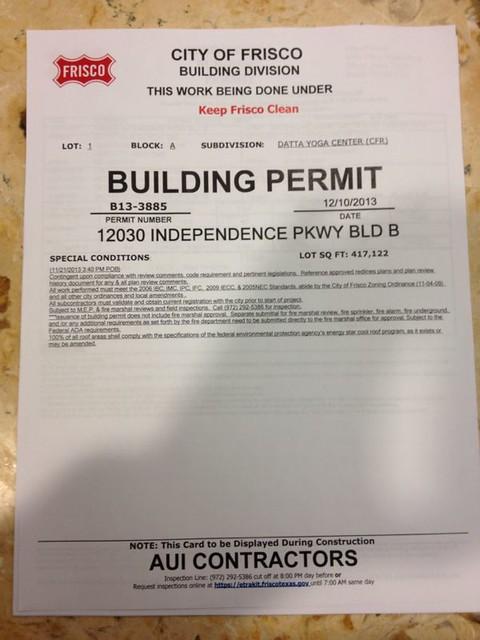 2014 Feb Building Site Permit Approved Marakata Karya
