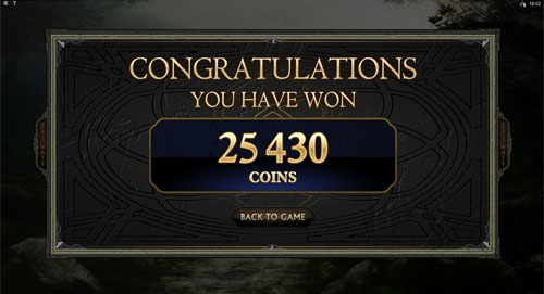 Avalon 2 - Quest for the Grail Bonus Feature Win