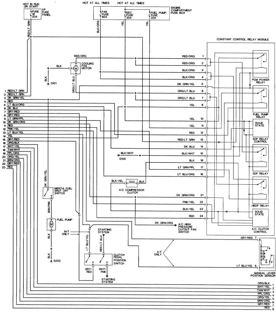 1995 thunderbird ecm wiring diagram tracing a ccrm to ecm wire in a 95 gt - ford mustang ... #11