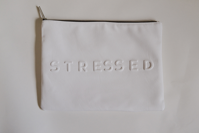 Zara Stressed But Well Dressed clutch 01
