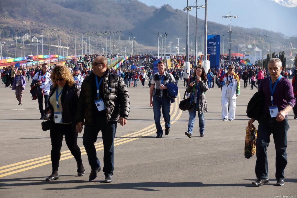 Олимпийский парк: болельщики