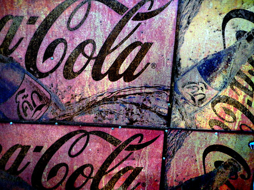 Rusty Coca-Cola Sign in Pattaya, Thailand