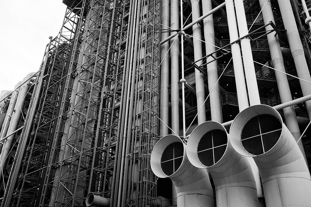 Outside the pompidou