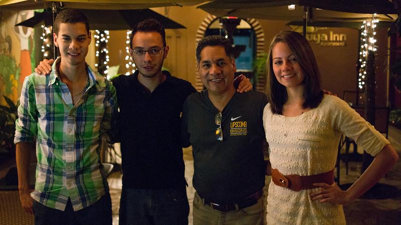 Moises Chino and Family at Humuya Inn