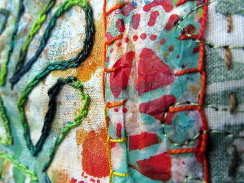 hand stitching ~ Jane LaFazio