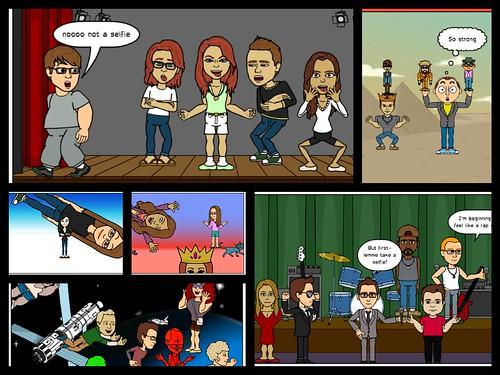 Comic Selfie Collage