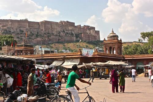 Mehrangarh Fort, view from Jodhpur main square