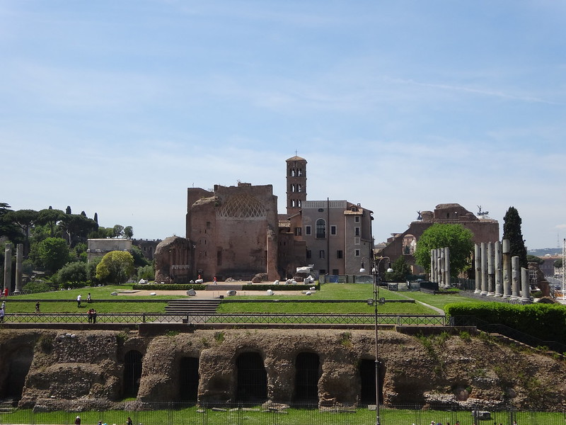 View of Palatine Hill from Colosseum