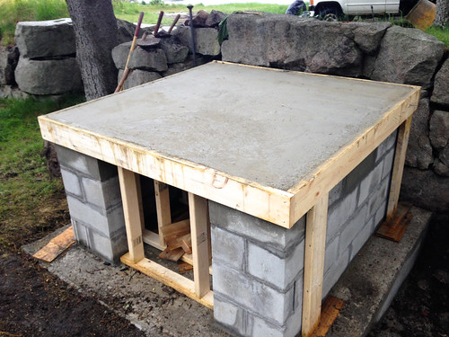 Foundation and hearth sub slab is ready
