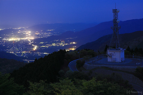 Mt. Haigamine at night