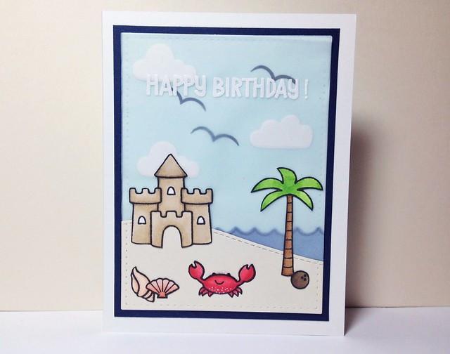 Beach-themed Birthday Card