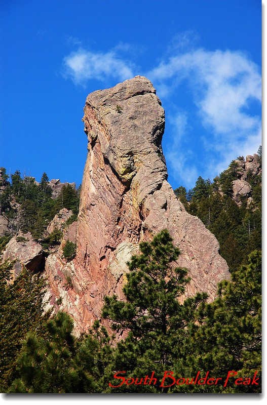 The Matron (Elephant Rock) from Shadow Canyon trail