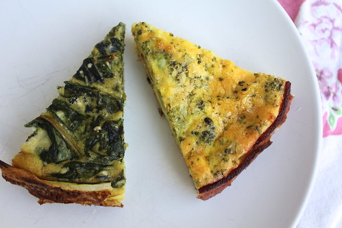 No-Pastry Quiche Two Ways: With A Bacon Crust and A Zucchini Crust ...