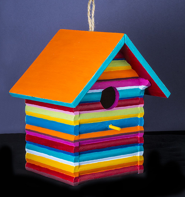Maria's Birdhouse Of Many Colors