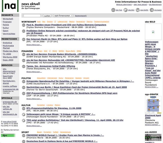 """Plattform """"recherche.newsaktuell.de"""""""