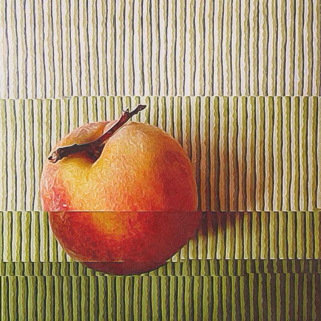 sliced peach