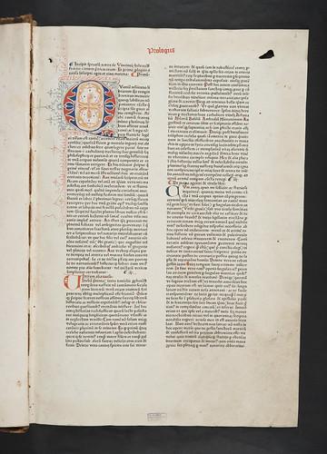 Decorated initial in Vincentius Bellovacensis: Speculum naturale