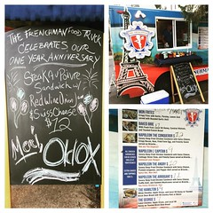 celebrating one year anniversary #steakaupoivre #sandwich #thefrenchman #foodtruck @thefrenchmanfoodtruck #oldoxbrewery @oldoxbrewery