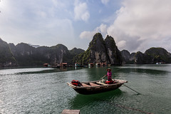 Halong Bay in a boat