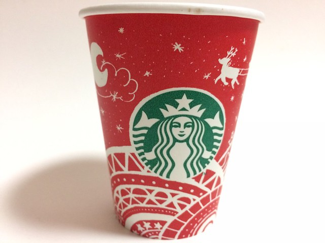 Starbucks Japan スターバックス red cup Sleigh Ride (designed by customer in Dong-gu,  Daejeon, South Korea)