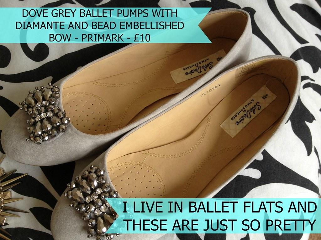 Primark_Dove_Grey_Bow_Embellishment_Ballet_Flats