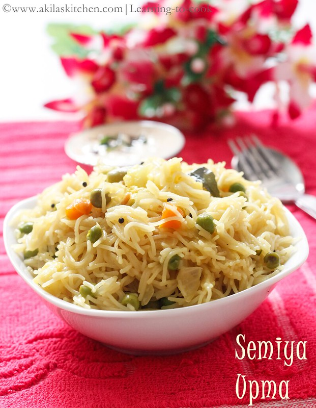 How to make Vegetable Vermicelli Upma
