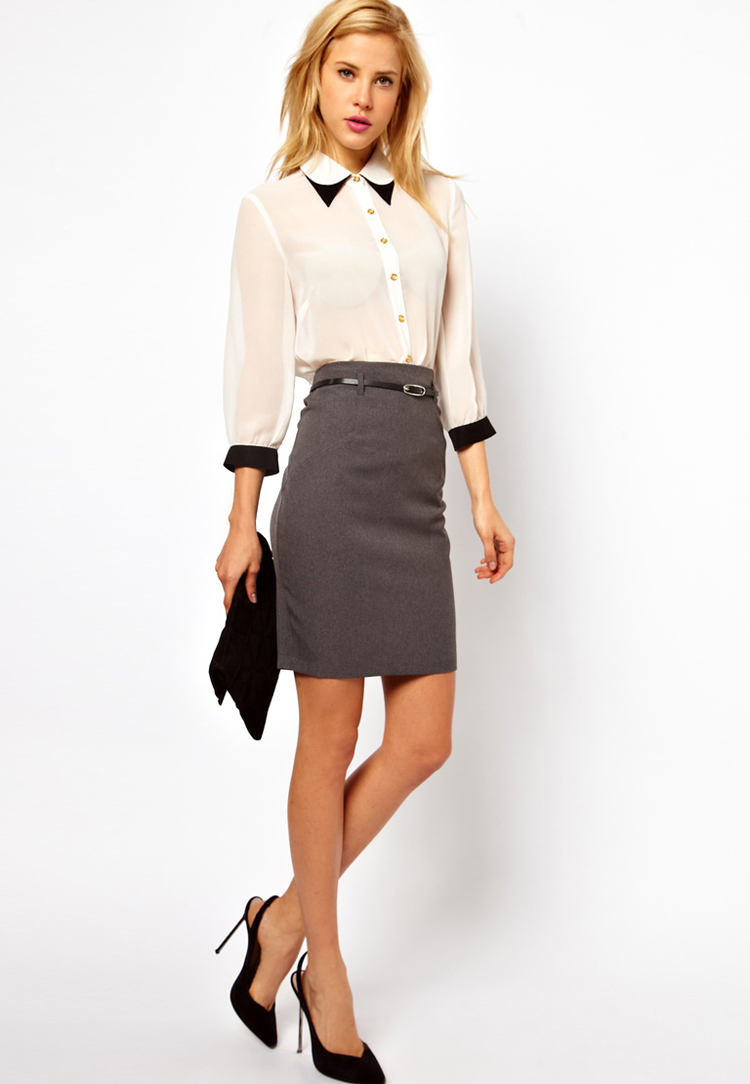 ASOS Belted Pencil Skirt
