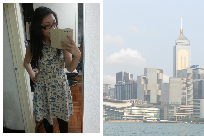 Daisybutter - UK Style and Fashion Blog: what i wore, Hong Kong, Tsim Sa Tsui, printed summer dress, uk fashion blogger
