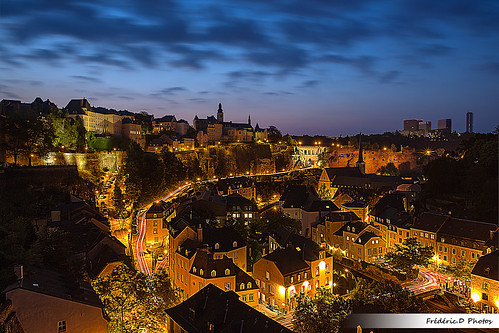 city travel architecture night europe downtown luxembourg