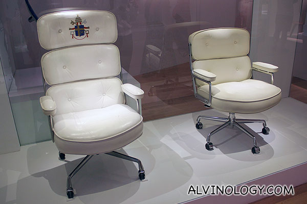 Eames chair designed for Pope John Paul II