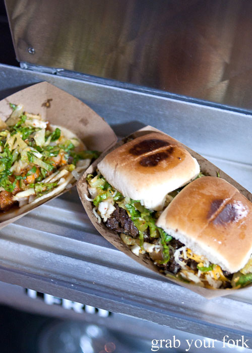 kogi sliders from kogi bbq truck in la los angeles roy choi food truck