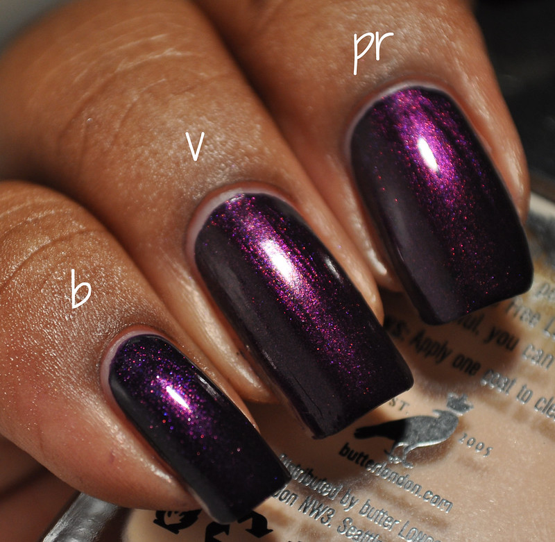 Deep Purple Shimmer Nail