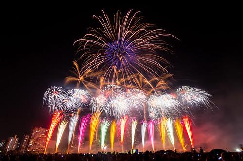 nightphotography japan night landscape tokyo nightscape nightshot pentax fireworks 東京 夜景 多摩川 k5 花火 lomgexposure 大田区 otaward pentaxk5 打上花火