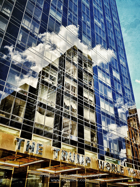 iPhone - NYC Trump World Tower building reflection - taken with an Apple iPhone 4S
