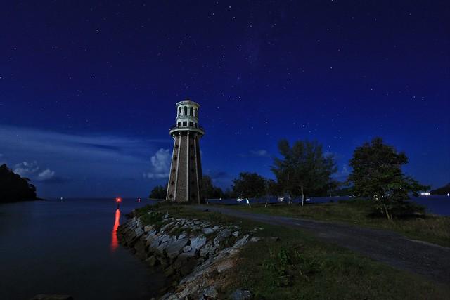 Light house at night