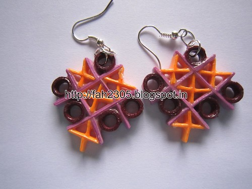 Handmade Jewelry - Paper Quilling TicTacToe Earrings  (1) by fah2305