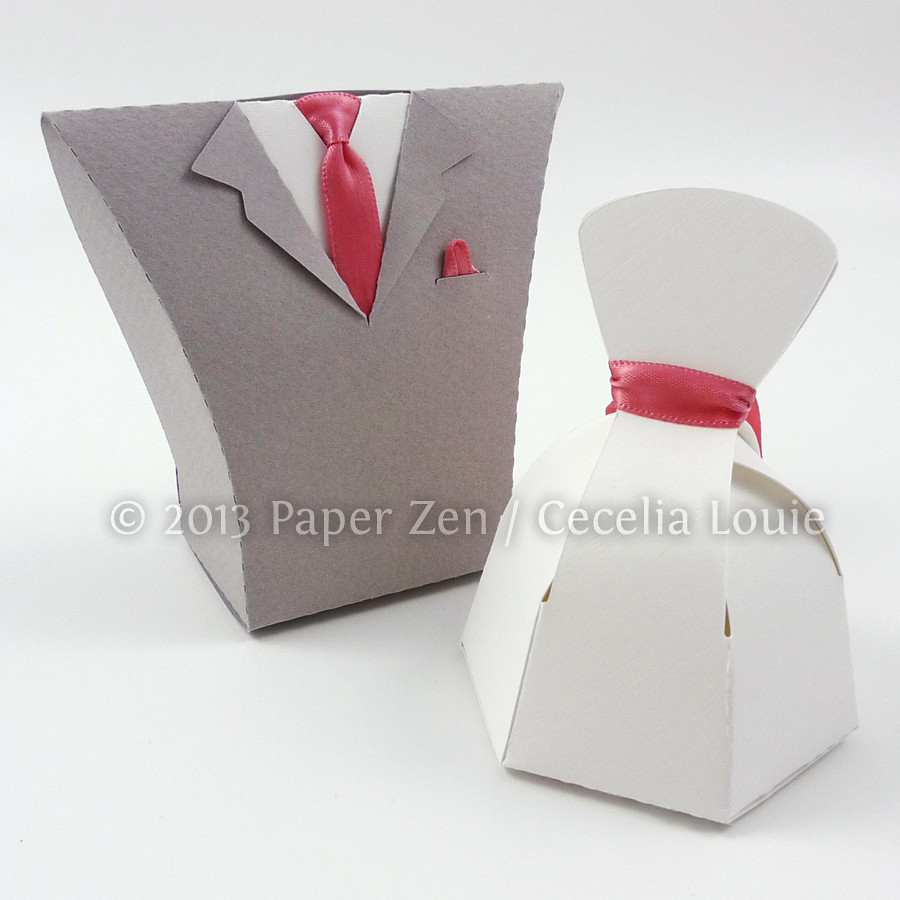 Bride Dress And Groom Tuxedo Party Favor Boxes A Photo On Flickriver