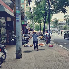 Vietnamese Street Food Peddler #hochiminh #saigon #vietnam #latergram #travel #streetphotography #iphone
