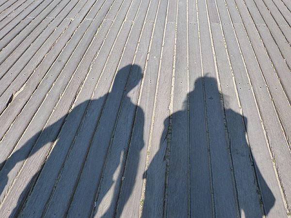 ombres sur les planches