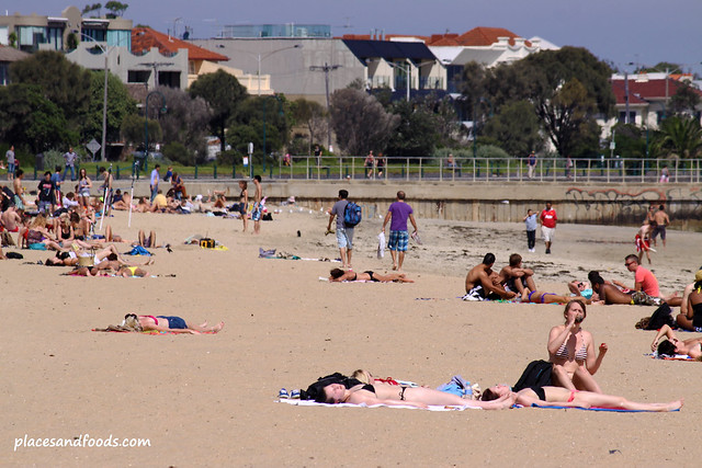st kilda beach summer
