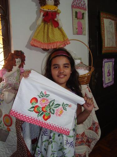 Ana Julia , aprendendo desde cedo a fazer coisas lindas by Maringá Patchwork by Ruth Urbinati