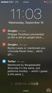 iOS7 Lock Screen - Notifications