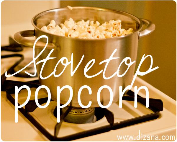 Stovetop Popcorn   www.dizana.com