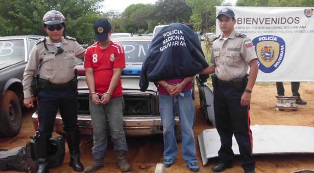 """Miembros detenidos de la banda """"El Pescadito"""""""