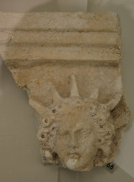 Relief fragment depicting Sol, unknown provenance, Split Archaeological Museum