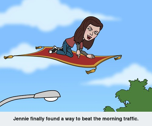 Jennie found a way to beat the morning traffic. by CadyLy