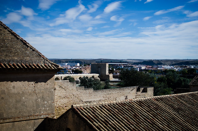Blue skies over Córdoba in Spain.
