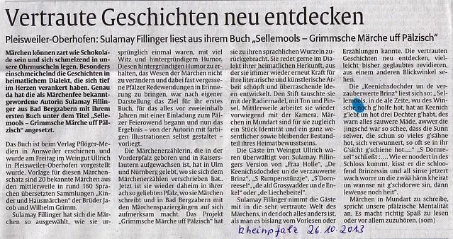 Rheinpfalz 2013-10-28