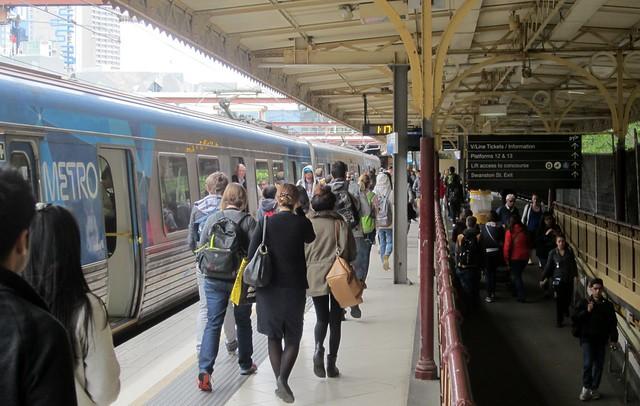 Platform 10 at Flinders Street
